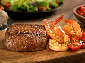Sirloin* & Grilled Shrimp