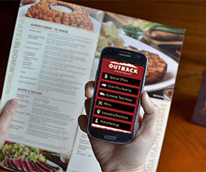 Receive Outback Steakhouse mobile offers'