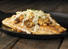 Crab Topped Tilapia