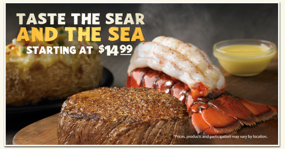 Steak and Lobster at Outback Steakhouse