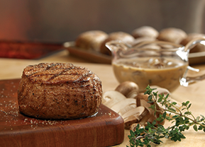 Filet with Wild Mushroom Sauce