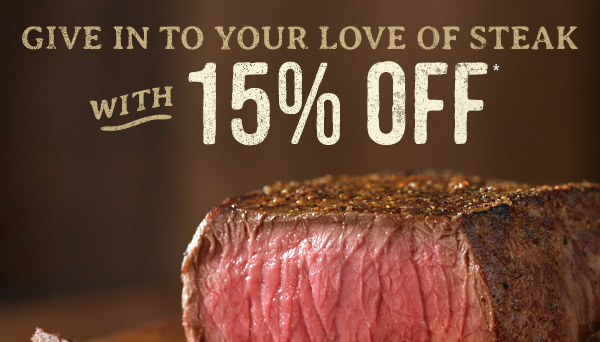 15% Off Through February 12th. @ Outback!!!