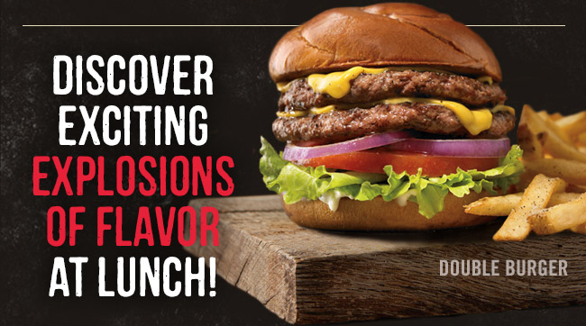 Discover exciting explosions of flavor at lunch!