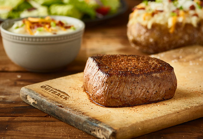 Introducing our NEW Aussie 4-course meal starting at just $14.99!* Get this meal now at Outback.com/Order.