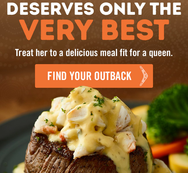 Treat her to a delicious meal fit for a queen.