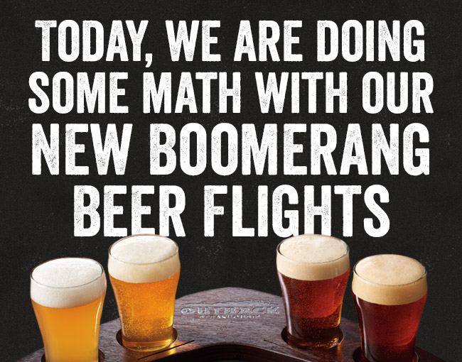 Today, we are doing some math with our NEW Boomerang Beer Flights.