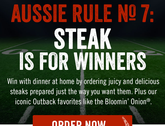 Aussie Rule No. 7: Steak is for Winners