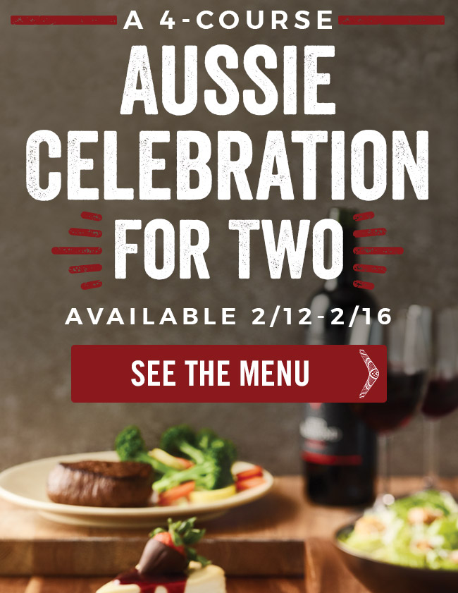 A 4-Course Aussie Celebration for Two.