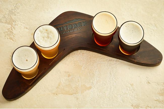 Boomerang Beer Flights