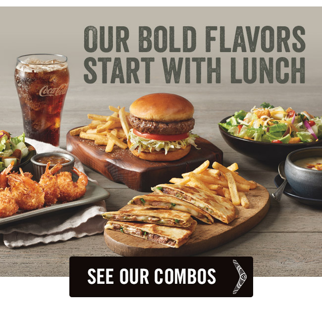 Our bold flavors start with lunch.
