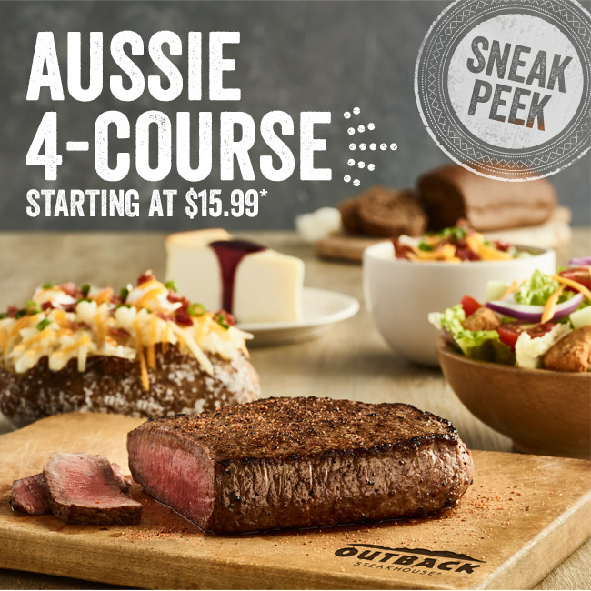 Sneak Peek! Aussie 4-Course