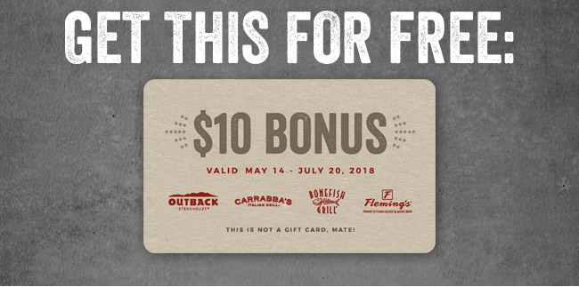 Get a Free $10 Bonus Card