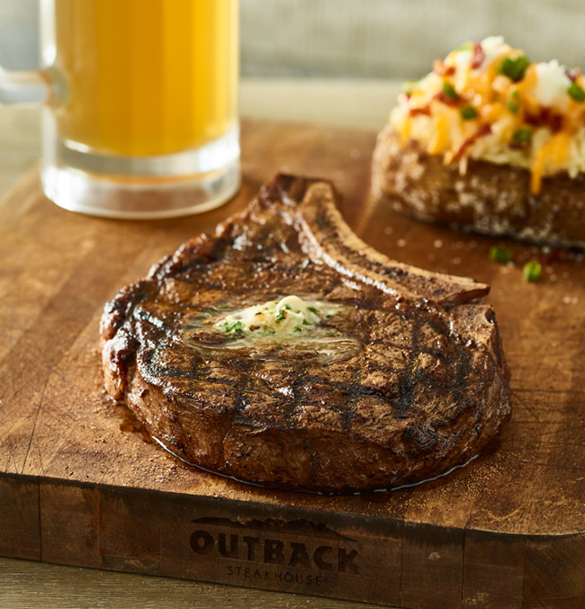 Pair our Bone-In Natural Cut Ribeye with our NEW Bloomin' Blonde Ale.* Available June 11-17.