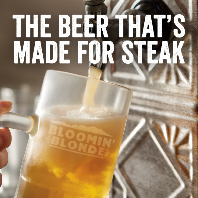 The beer that's made for steak!