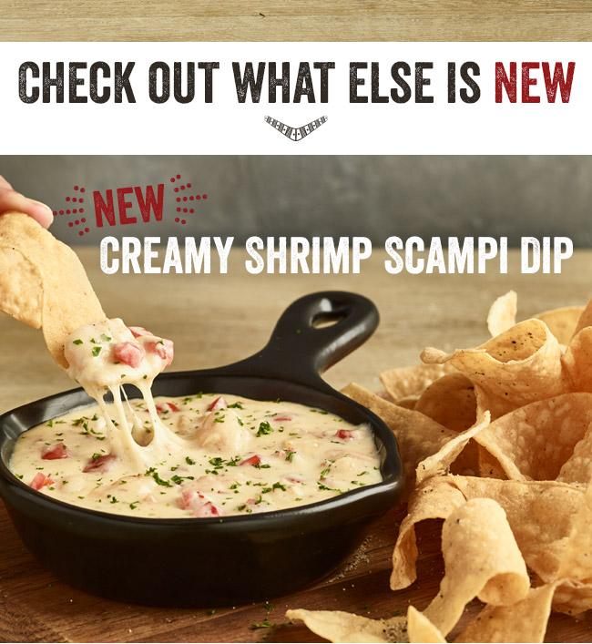 Check out what else is new, like our Creamy Shrimp Scampi Dip.