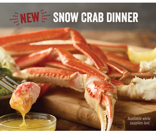 New! Snow Crab Dinner