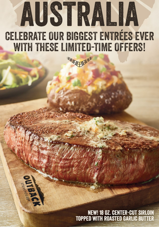 BIG Australia: Celebrate our biggest entrées ever with these limited-time offers!