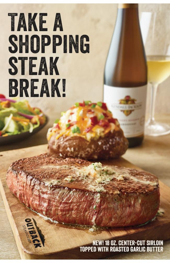 Take a shopping steak break.