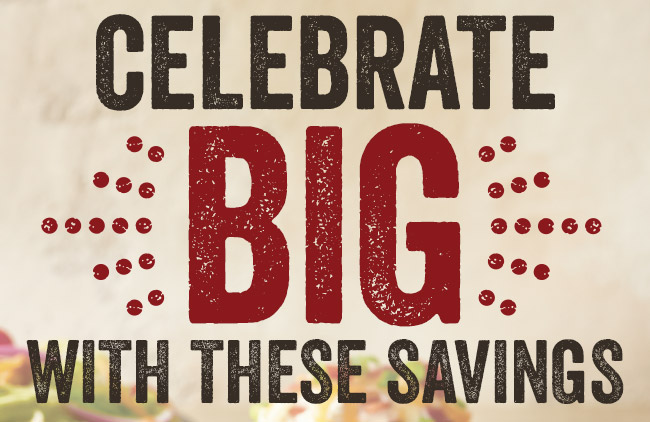 Celebrate BIG with these savings!