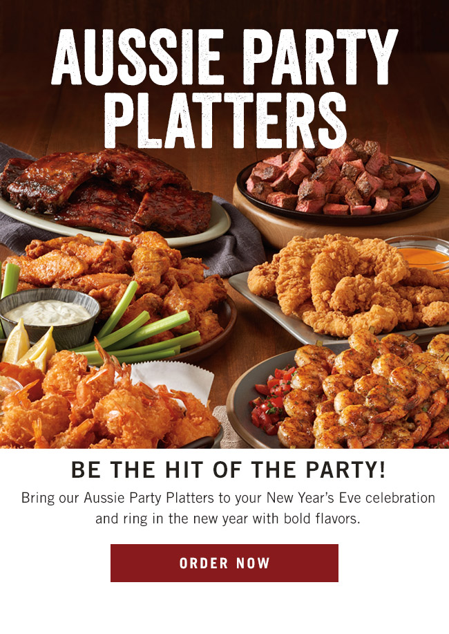 Aussie Party Platters - Be the hit of the party! Bring our Aussie Party Platters to your New Year's Eve celebration and ring in the new year with bold flavors.