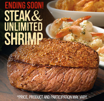 Steak and Unlimited Shrimp