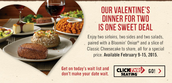 OUTBACK PRICES FOR DINNER