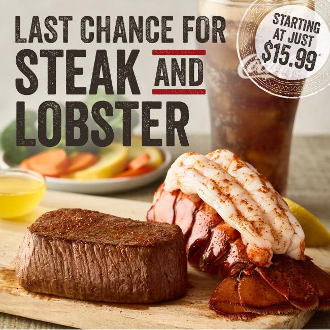 Last Chance for Steak & Lobster