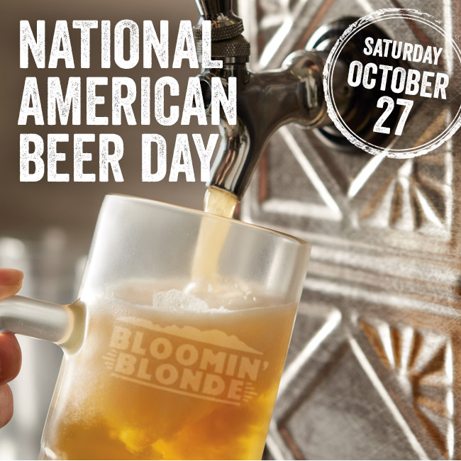National American Beer Day is Saturday, October 27