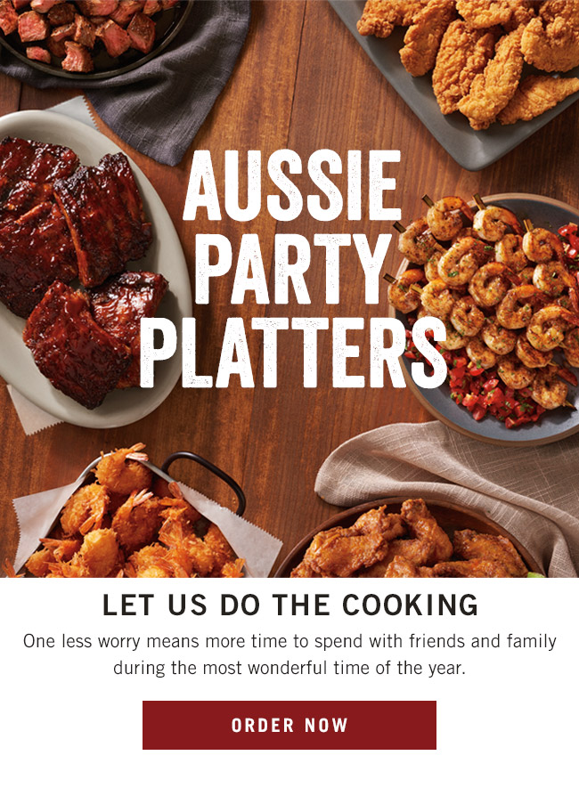 Aussie Party Platters - Let us do the cooking! One less worry means more time to spend with friends and family during the most wonderful time of the year.