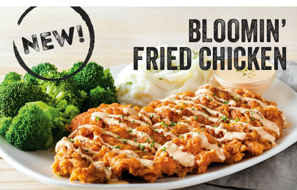 New! Bloomin' Fried Chicken